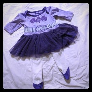 Batman Dress with Matching tights 0-3M